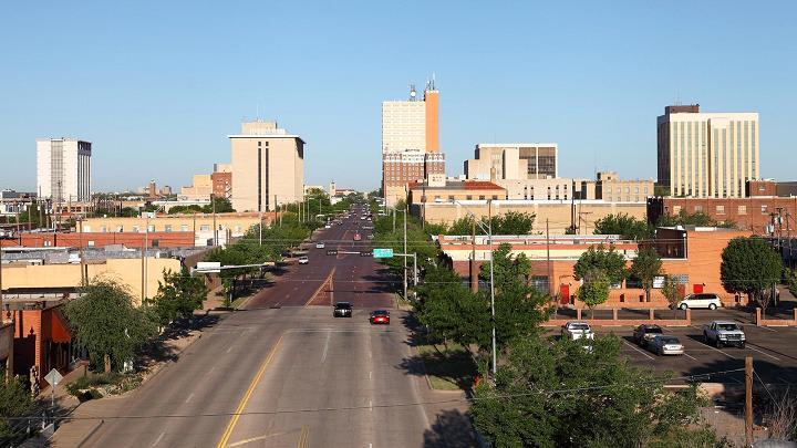 Lubbock, nằm ở trung tâm của miền Tây Texas